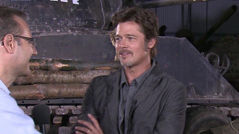 Brad Pitt - FURY - Bovington 2014