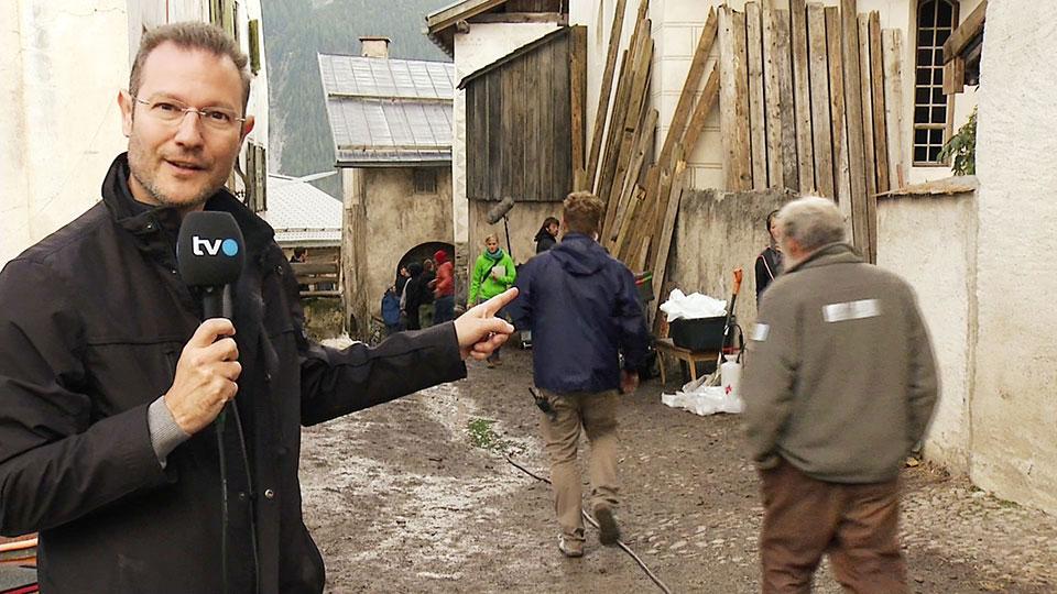Bruno Ganz - Set Visit - HEIDI - Latsch 2015